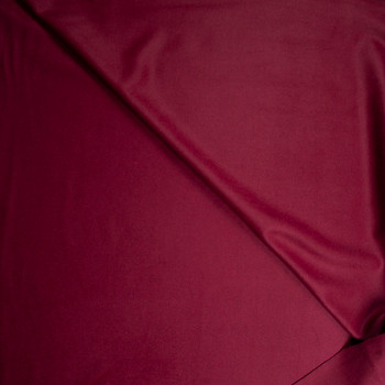 Solid Burgundy Designer Wool Coating Fabric By The Yard - Wide shot