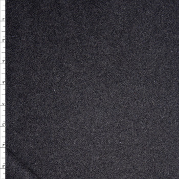 Solid Charcoal Designer Wool Coating Fabric By The Yard