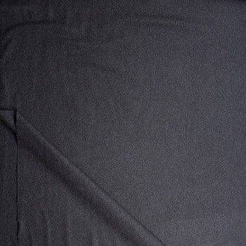 Solid Charcoal Designer Wool Coating Fabric By The Yard - Wide shot
