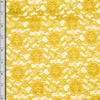 Yellow Floral Lace