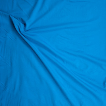 Turquoise Heavyweight Stretch Ponte De Roma Fabric By The Yard - Wide shot