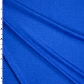 Bright Blue Lightweight Rayon Jersey Knit Fabric By The Yard