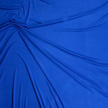 Bright Blue Lightweight Rayon Jersey Knit Fabric By The Yard - Wide shot