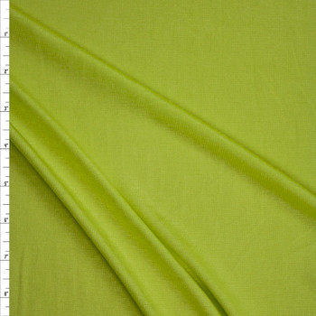 Bright Lime Green Lightweight Rayon Jersey Knit Fabric By The Yard