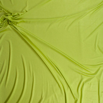 Bright Lime Green Lightweight Rayon Jersey Knit Fabric By The Yard - Wide shot