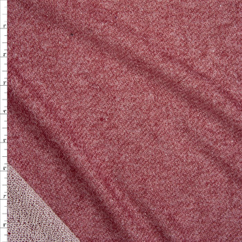 Burgundy Cotton French Terry Fabric By The Yard