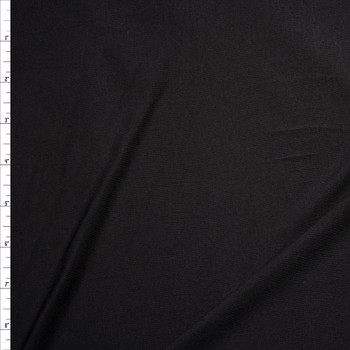 Black Midweight 4-way Stretch Rayon/Spandex Jersey Knit Fabric By The Yard