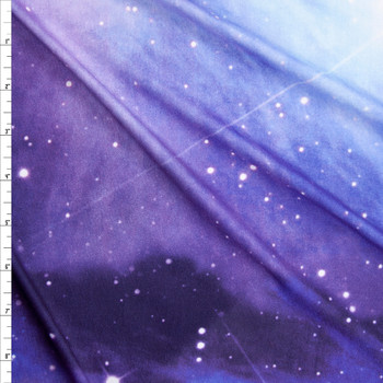 Midnight Galaxy Double Brushed Poly Spandex Fabric By The Yard