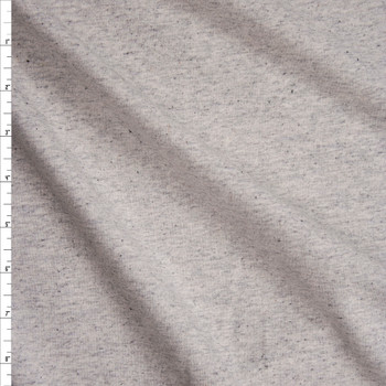 Grey Heather Light Midweight French Terry Fabric By The Yard