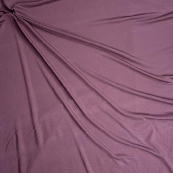 Dusty Plum Stretch Modal French Terry Fabric By The Yard - Wide shot