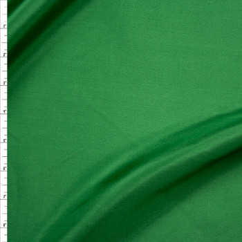 Green Designer Silk Habotai Fabric By The Yard