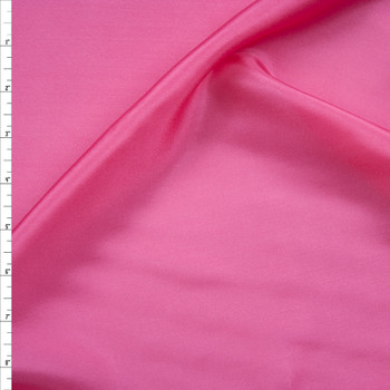 Bright Pink Designer Silk Habotai Fabric By The Yard
