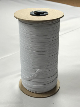 "White 1/4"" Braided Elastic Roll (200y)"