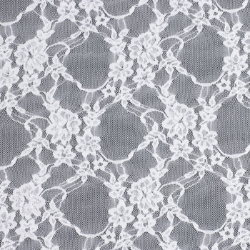 White Floral Stretch Lace