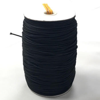 Black 2mm Elastic Cord - By the Roll