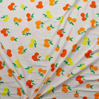 Citrus Sunrise Cotton/Spandex Jersey Knit from Art Gallery Fabrics Fabric By The Yard - Wide shot