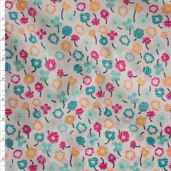 Waving Buds Candied Cotton Voile from Art Gallery Fabrics Fabric By The Yard