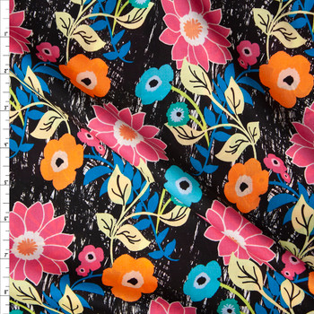 Floral Asphalt Cotton Voile from Art Gallery Fabrics Fabric By The Yard
