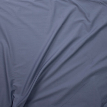 Medium Grey Stretch Poly/Cotton Twill Fabric By The Yard - Wide shot
