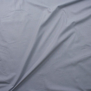 Grey Double Nap Midweight Cotton Flannel Fabric By The Yard - Wide shot
