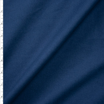 Navy Double Nap Midweight Cotton Flannel Fabric By The Yard