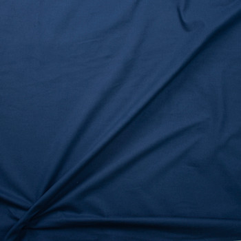 Navy Double Nap Midweight Cotton Flannel Fabric By The Yard - Wide shot