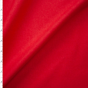 Red Double Nap Midweight Cotton Flannel Fabric By The Yard