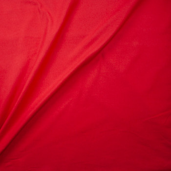Red Double Nap Midweight Cotton Flannel Fabric By The Yard - Wide shot