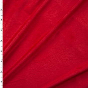 Red Lightweight Designer Stretch Suede Fabric By The Yard