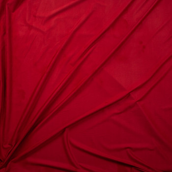 Red Lightweight Designer Stretch Suede Fabric By The Yard - Wide shot