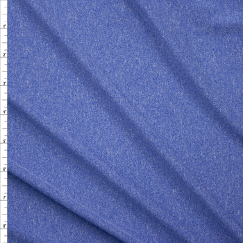 Sky Blue Heather Double Brushed Poly Fabric By The Yard
