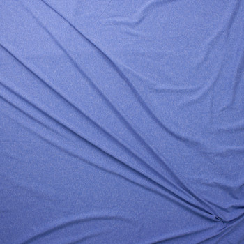 Sky Blue Heather Double Brushed Poly Fabric By The Yard - Wide shot