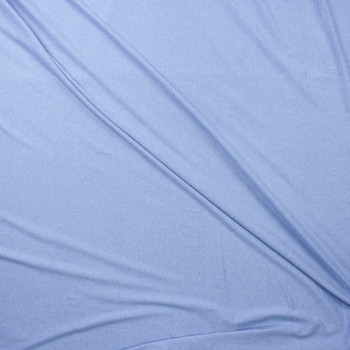 Pale Blue Heather Double Brushed Poly Fabric By The Yard - Wide shot