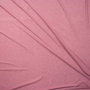 Mauve Heather Double Brushed Poly Fabric By The Yard - Wide shot