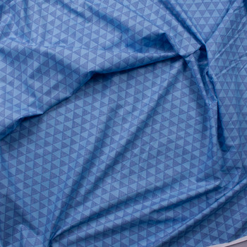 Blue and Light Blue Triangle Fine Cotton Shirting from Tori Richards Fabric By The Yard - Wide shot