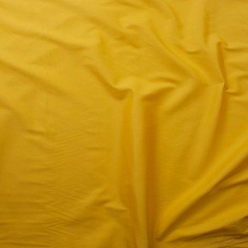 Sunshine Yellow Stretch Cotton Sateen Fabric By The Yard - Wide shot
