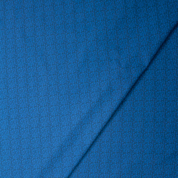 Tootal Super Classic High Count Poplin Blue Scrollwork Fabric By The Yard - Wide shot