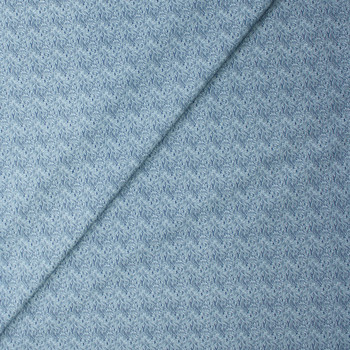 Tootal Super Classic High Count Poplin White Waves Fabric By The Yard - Wide shot
