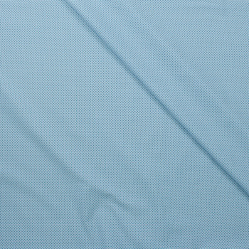 Tootal Super Classic High Count Poplin Blue Squares Fabric By The Yard - Wide shot