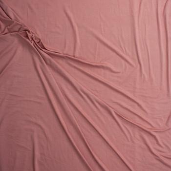 Dusty Mauve Soft Lightweight Stretch Rayon Jersey Fabric By The Yard - Wide shot