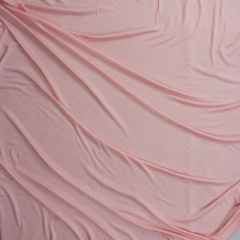 Pale Pink Soft Lightweight Stretch Rayon Jersey Fabric By The Yard - Wide shot