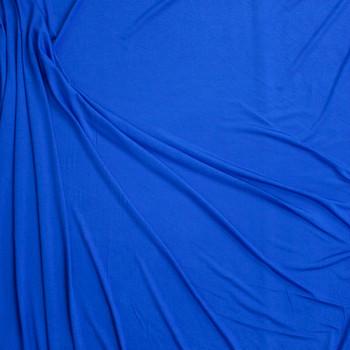 Blue Soft Lightweight Stretch Rayon Jersey Fabric By The Yard - Wide shot