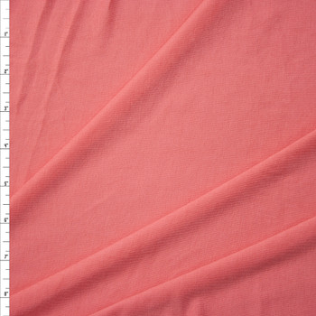 Bright Coral Soft Lightweight Stretch Rayon Jersey Fabric By The Yard