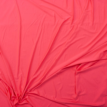 Neon Pink Stretch Poly/Spandex Knit Fabric By The Yard - Wide shot