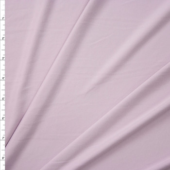 Ghost Lavender Solid Double Brushed Poly Spandex Fabric By The Yard