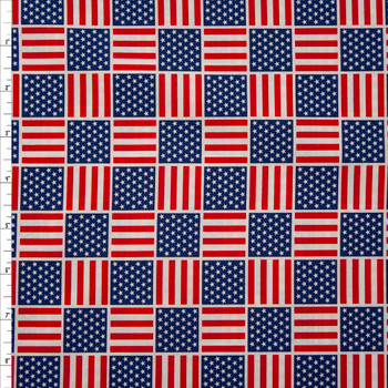 Patriotic Flag Print 49685 Quilter's Cotton Fabric By The Yard