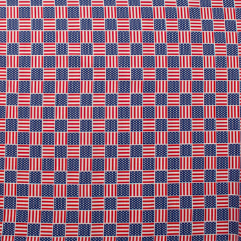 Patriotic Flag Print 49685 Quilter's Cotton Fabric By The Yard - Wide shot