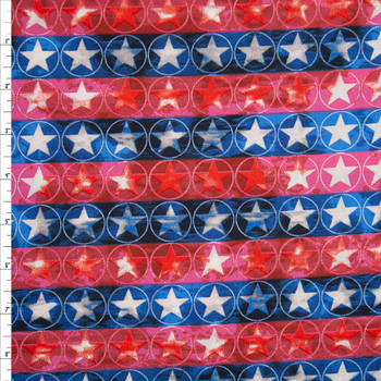 Patriotic Vertical Stripe Print 49675 Quilter's Cotton Fabric By The Yard