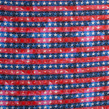 Patriotic Vertical Stripe Print 49675 Quilter's Cotton Fabric By The Yard - Wide shot
