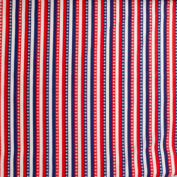 Patriotic Stripe Print 49688 Quilter's Cotton Fabric By The Yard - Wide shot
